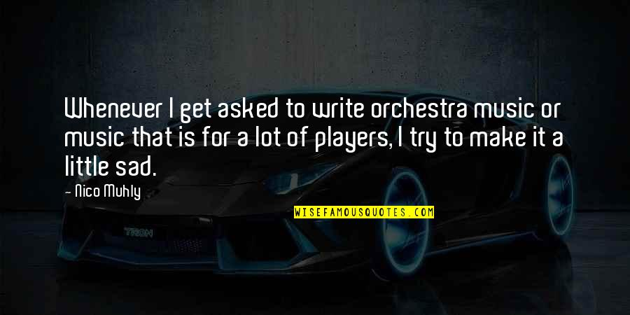 Nico's Quotes By Nico Muhly: Whenever I get asked to write orchestra music
