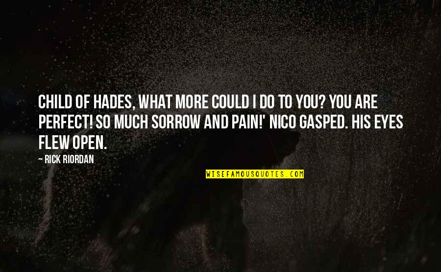 Nico's Quotes By Rick Riordan: Child of Hades, what more could I do