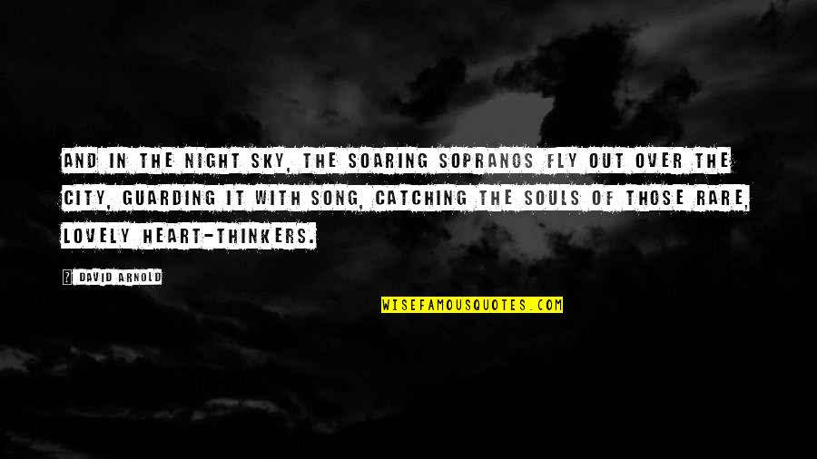 Night City Quotes By David Arnold: And in the night sky, the soaring sopranos