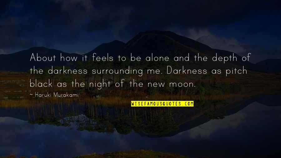 Night Darkness Quotes By Haruki Murakami: About how it feels to be alone and