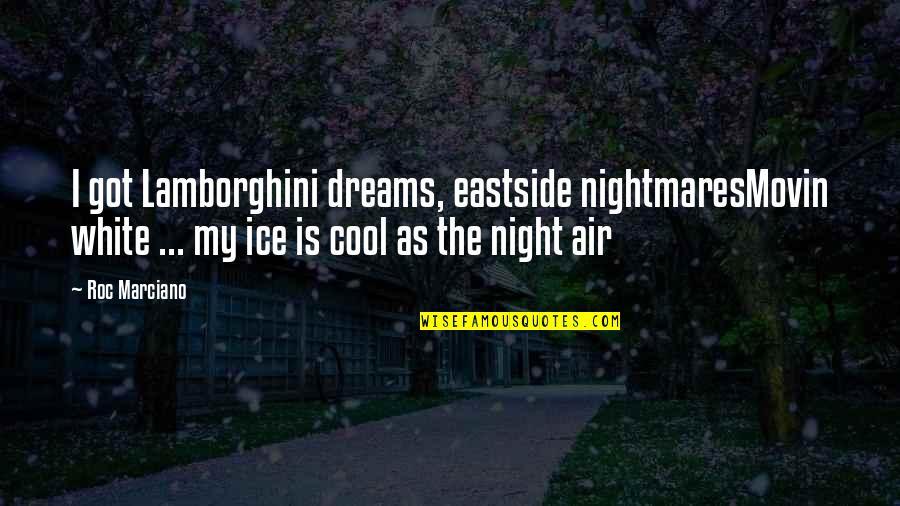 Night Dreams Quotes By Roc Marciano: I got Lamborghini dreams, eastside nightmaresMovin white ...