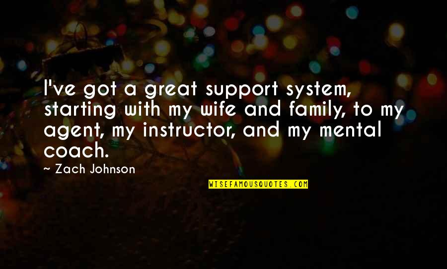 Night Time Love Quotes By Zach Johnson: I've got a great support system, starting with