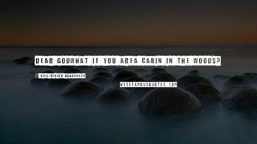 Nils-Oivind Haagensen quotes: Dear godwhat if you area cabin in the woods?