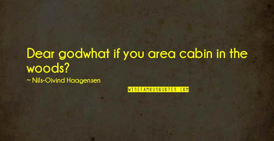 Nils Quotes By Nils-Oivind Haagensen: Dear godwhat if you area cabin in the