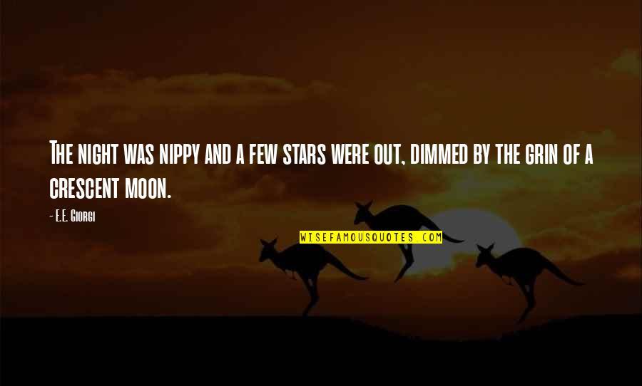 Nippy Quotes By E.E. Giorgi: The night was nippy and a few stars