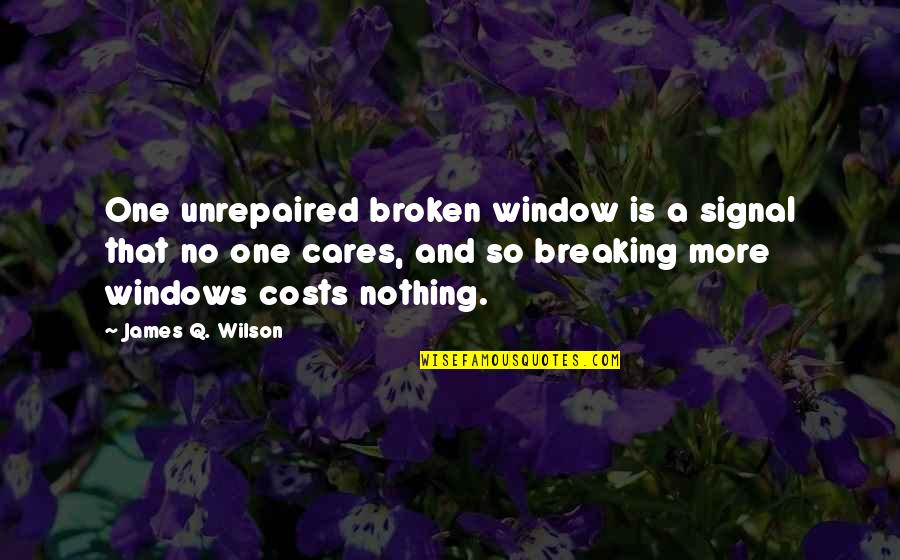 No Cares Quotes By James Q. Wilson: One unrepaired broken window is a signal that