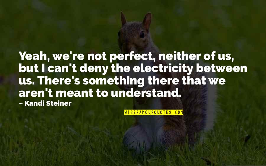 No Chaser Quotes By Kandi Steiner: Yeah, we're not perfect, neither of us, but