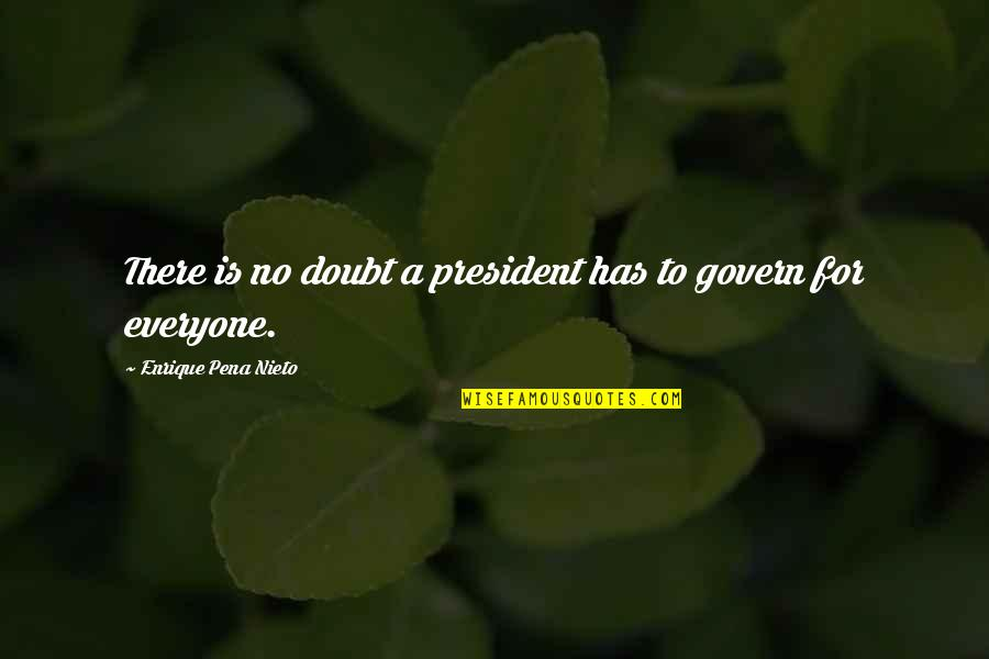 No Doubt Quotes By Enrique Pena Nieto: There is no doubt a president has to