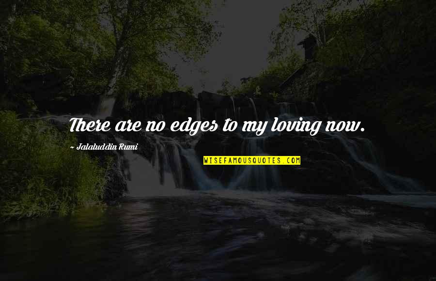 No Edges Quotes By Jalaluddin Rumi: There are no edges to my loving now.