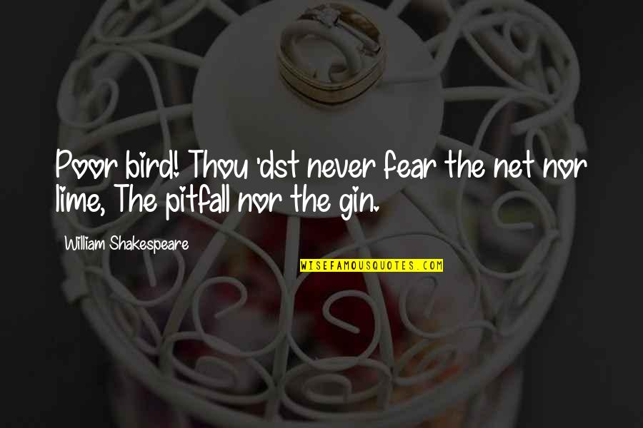 No Fear Shakespeare Quotes By William Shakespeare: Poor bird! Thou 'dst never fear the net