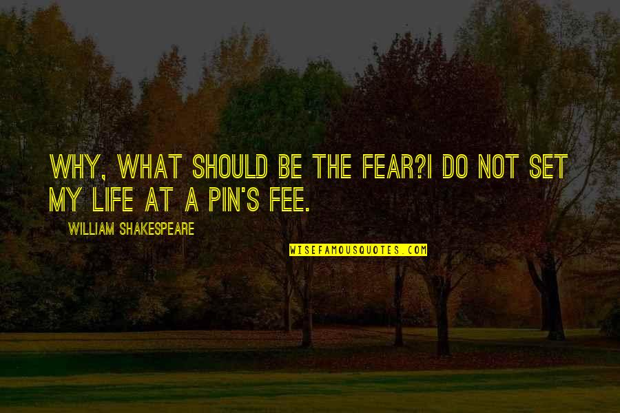 No Fear Shakespeare Quotes By William Shakespeare: Why, what should be the fear?I do not