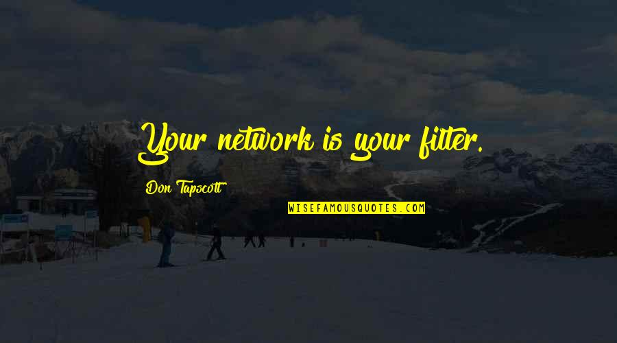 No Filters Quotes By Don Tapscott: Your network is your filter.