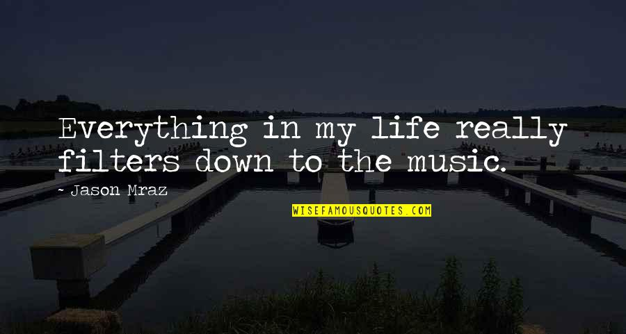 No Filters Quotes By Jason Mraz: Everything in my life really filters down to