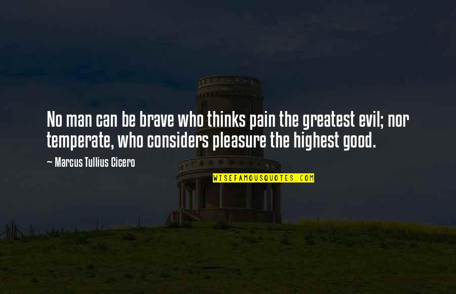 No Good Men Quotes By Marcus Tullius Cicero: No man can be brave who thinks pain