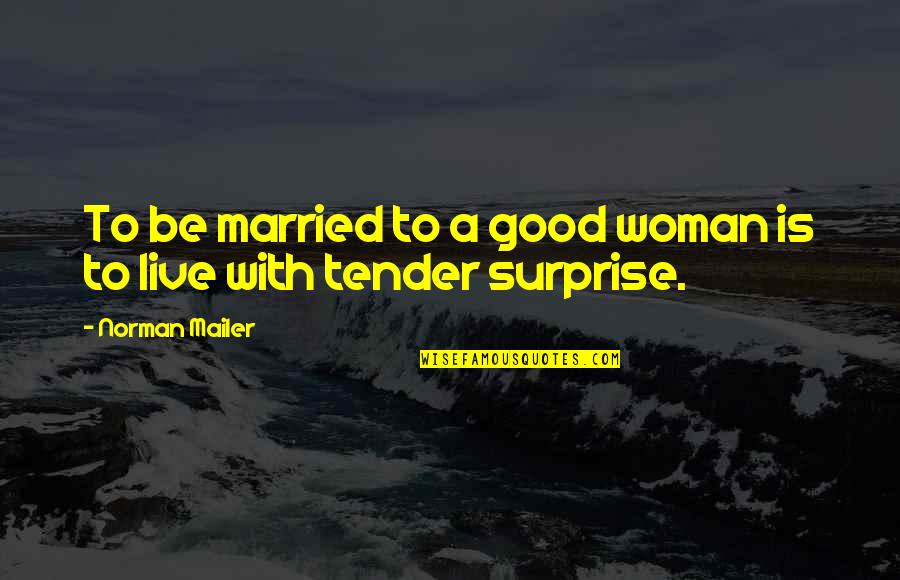 No Good Woman Quotes By Norman Mailer: To be married to a good woman is