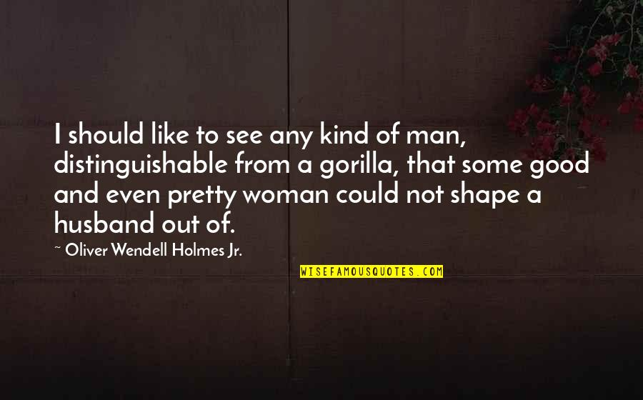 No Good Woman Quotes By Oliver Wendell Holmes Jr.: I should like to see any kind of