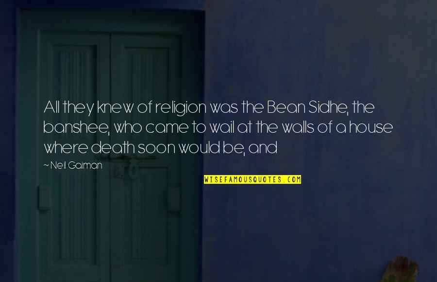 No Hope For The Human Race Quotes By Neil Gaiman: All they knew of religion was the Bean
