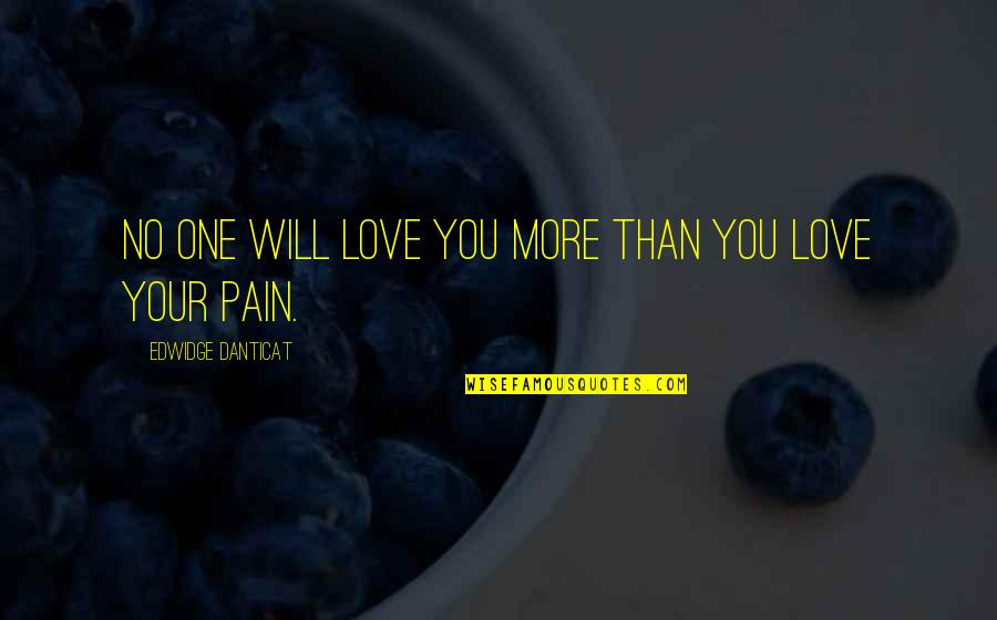 No More Love You Quotes By Edwidge Danticat: No one will love you more than you