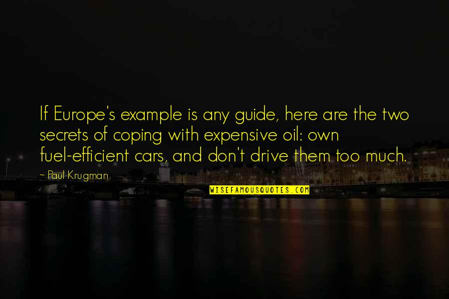 No More Secrets Quotes By Paul Krugman: If Europe's example is any guide, here are