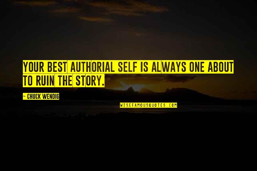 No Pain No Gain And Other Quotes By Chuck Wendig: Your best authorial self is always one about