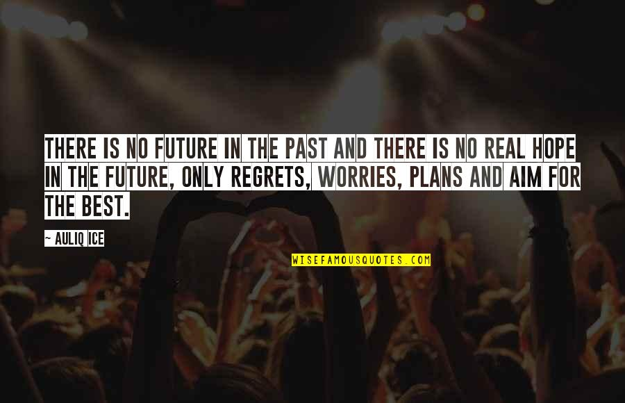 No Plans Quotes By Auliq Ice: There is no future in the past and