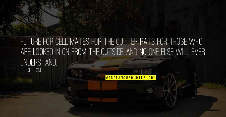 No Rats Quotes By C.L.Stone: Future For cell mates For the gutter rats