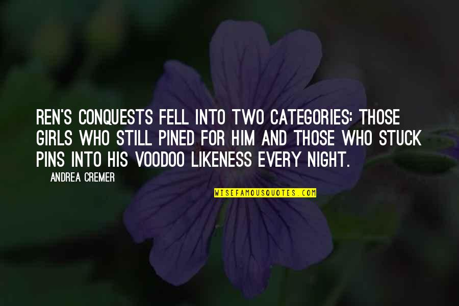 No Secrets In A Relationship Quotes By Andrea Cremer: Ren's conquests fell into two categories: those girls