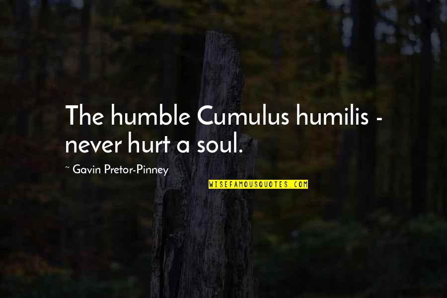 No Soul Funny Quotes By Gavin Pretor-Pinney: The humble Cumulus humilis - never hurt a