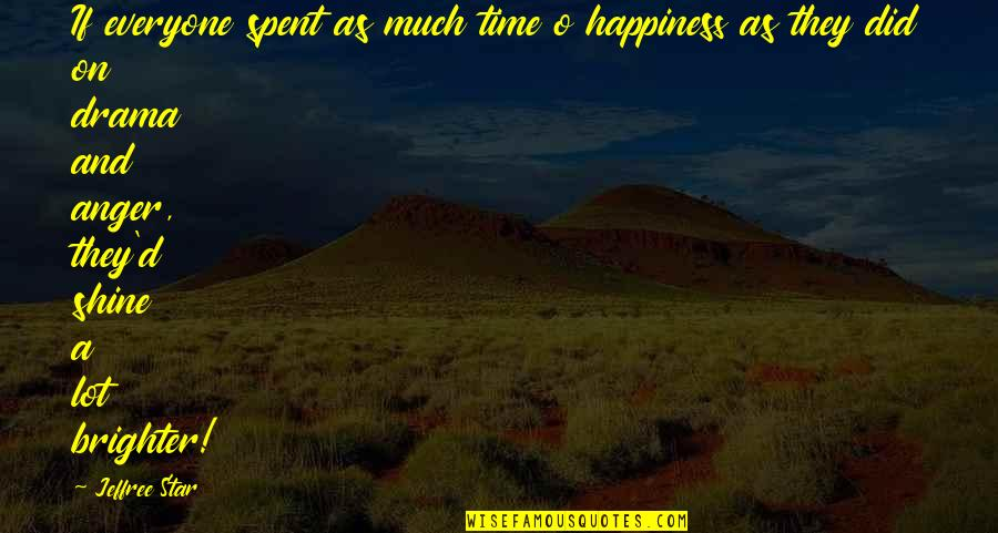 No Time For Drama Quotes By Jeffree Star: If everyone spent as much time o happiness