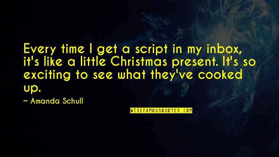 No Time Like The Present Quotes By Amanda Schull: Every time I get a script in my