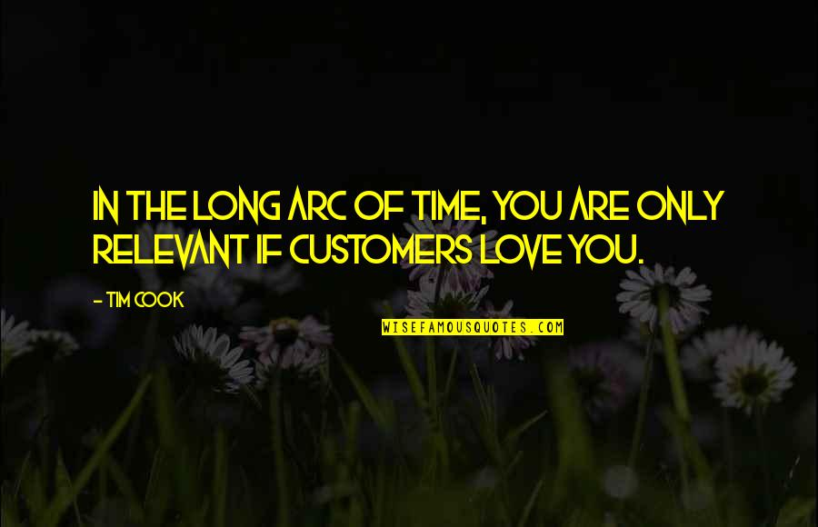 No Time To Cook Quotes By Tim Cook: In the long arc of time, you are