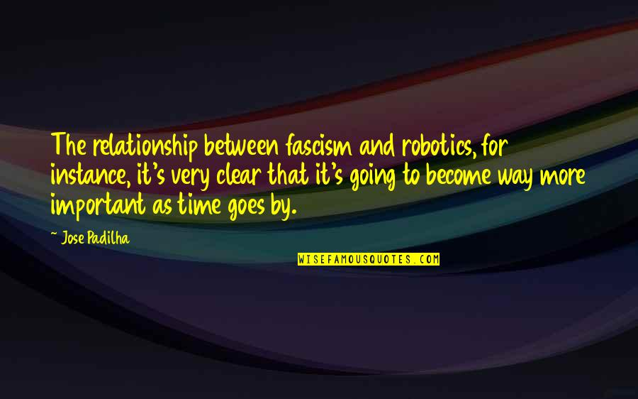 No Way Jose Quotes By Jose Padilha: The relationship between fascism and robotics, for instance,