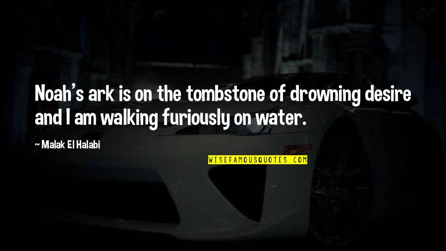 Noah's Quotes By Malak El Halabi: Noah's ark is on the tombstone of drowning