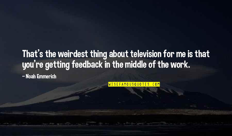 Noah's Quotes By Noah Emmerich: That's the weirdest thing about television for me