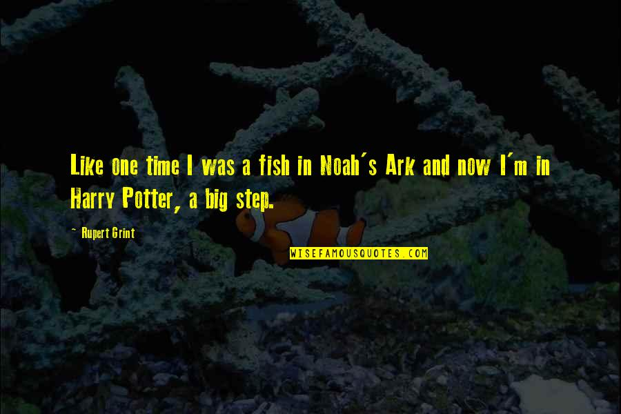 Noah's Quotes By Rupert Grint: Like one time I was a fish in