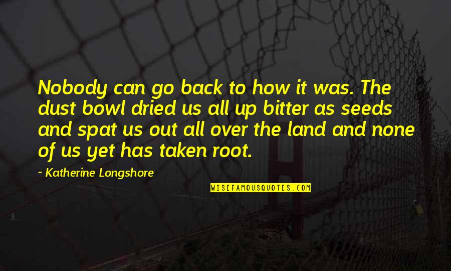 Nobody Can Go Back Quotes By Katherine Longshore: Nobody can go back to how it was.