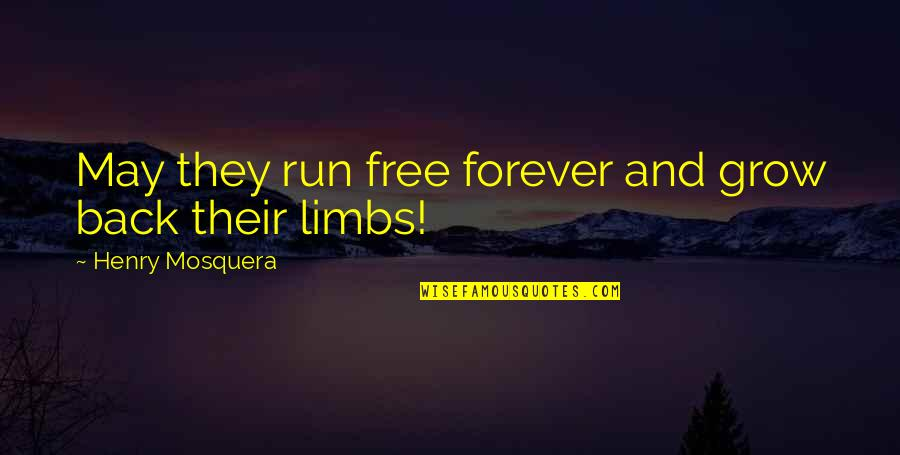 Noir's Quotes By Henry Mosquera: May they run free forever and grow back