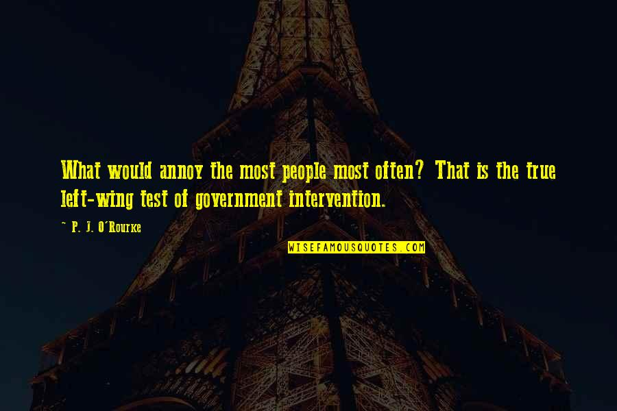 Non Intervention Quotes By P. J. O'Rourke: What would annoy the most people most often?