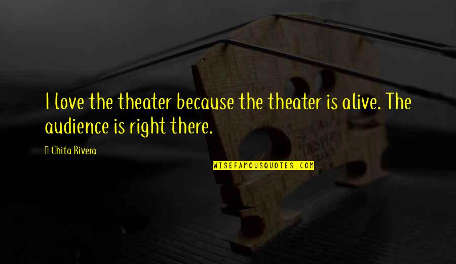 Noncooperative Quotes By Chita Rivera: I love the theater because the theater is