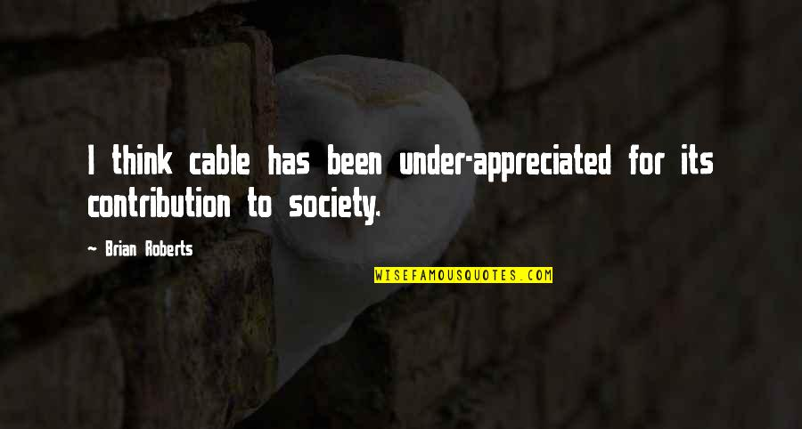 Nooblets Quotes By Brian Roberts: I think cable has been under-appreciated for its