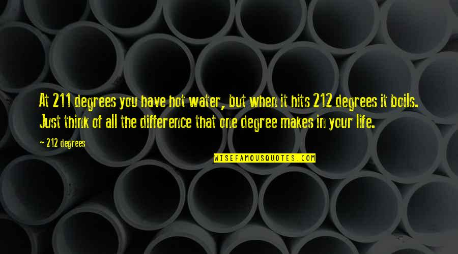 Noory Quotes By 212 Degrees: At 211 degrees you have hot water, but