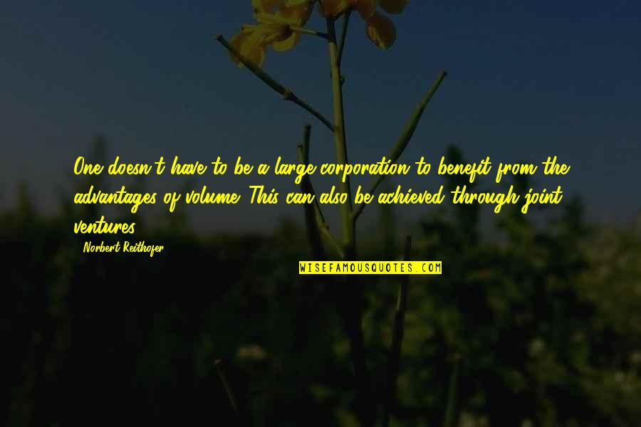 Norbert Reithofer Quotes By Norbert Reithofer: One doesn't have to be a large corporation