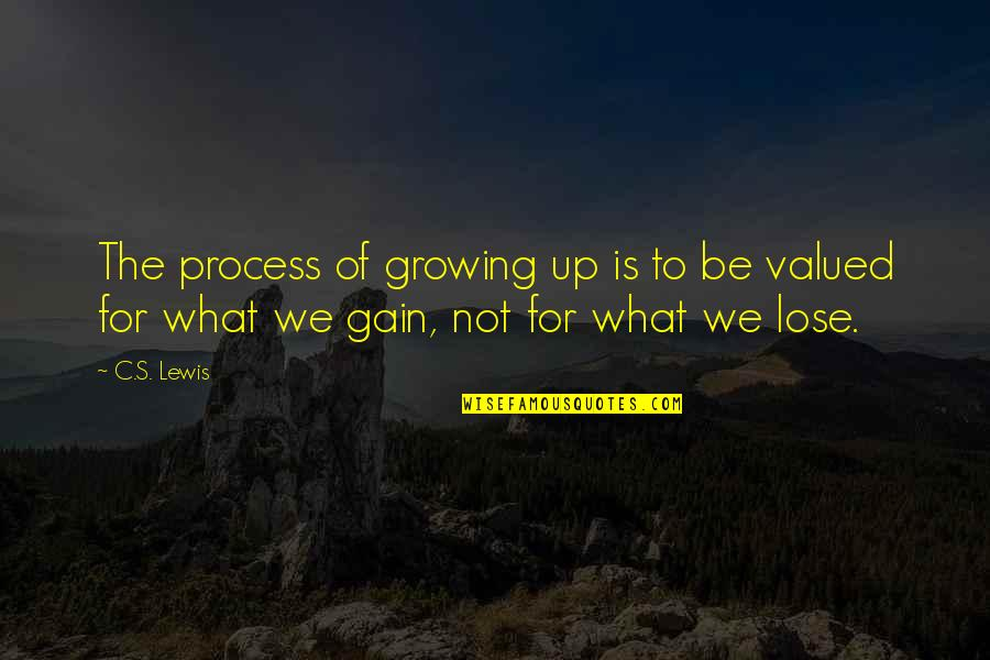 Nose Itching Quotes By C.S. Lewis: The process of growing up is to be