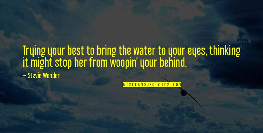 Nosebleed Quotes Quotes By Stevie Wonder: Trying your best to bring the water to