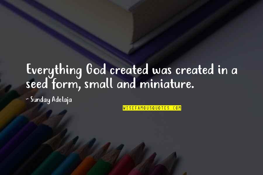 Not Being Able To Be Happy Quotes By Sunday Adelaja: Everything God created was created in a seed
