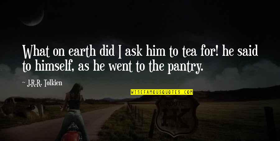 Not Being Appreciated Quotes By J.R.R. Tolkien: What on earth did I ask him to