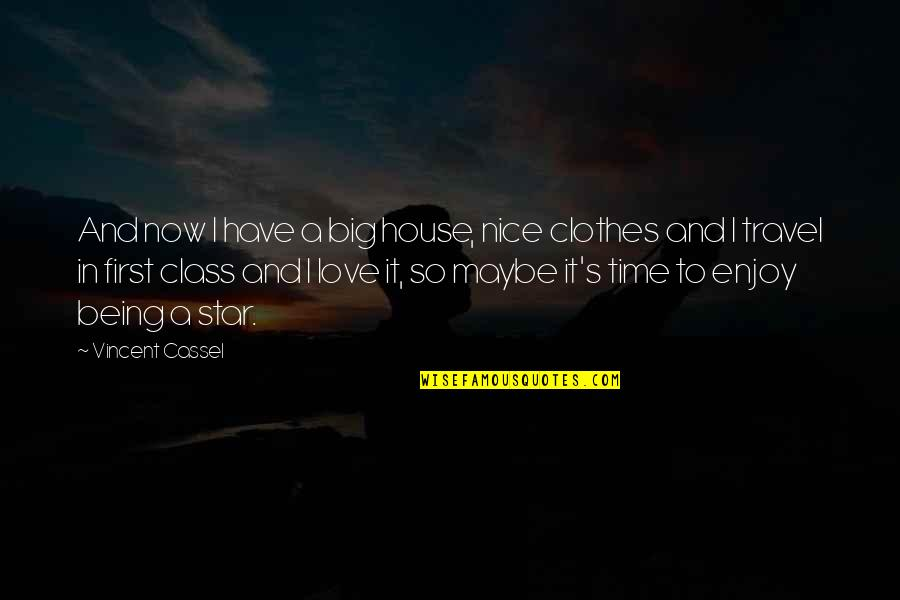 Not Being Over Your First Love Quotes By Vincent Cassel: And now I have a big house, nice
