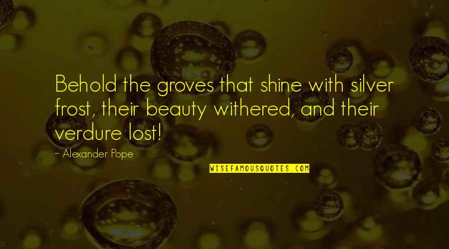 Not Being Sure About A Guy Quotes By Alexander Pope: Behold the groves that shine with silver frost,