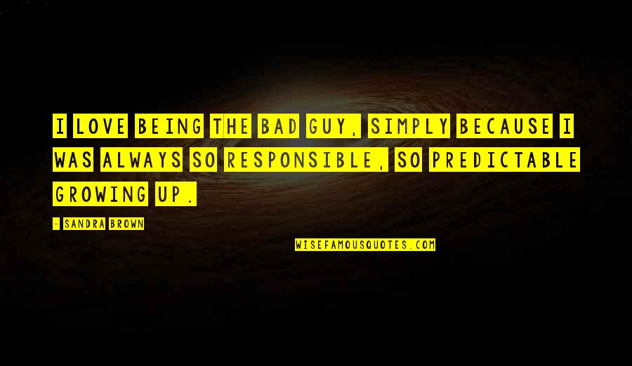 Not Being The Bad Guy Quotes By Sandra Brown: I love being the bad guy, simply because