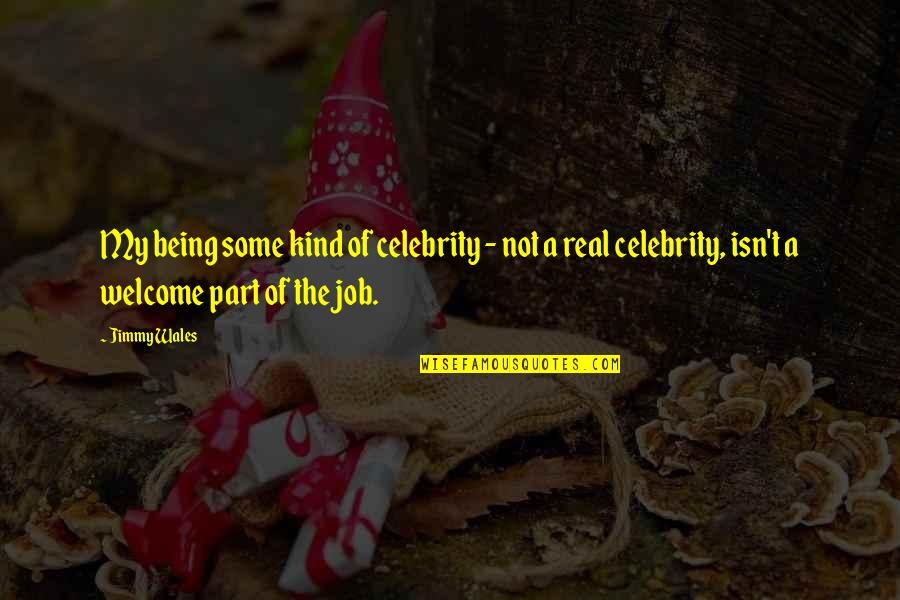 Not Being Welcome Quotes By Jimmy Wales: My being some kind of celebrity - not